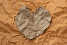 Torn paper heart Stock Photo