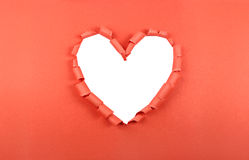 Torn paper heart Stock Photography