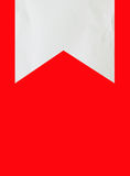 Torn paper. Isolated on red background Royalty Free Stock Image