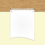 Torn paper note Royalty Free Stock Photography