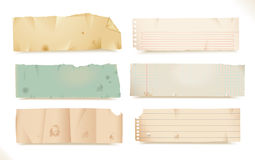 Torn paper- objects stock illustration