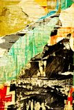 Torn paper. Old posters / Torn posters / Ripped paper / Street art / Abstract / Old damaged wall Stock Images