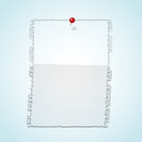 Torn paper pad with pin. Stock Photos
