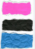 Torn paper. Picture of colorful torn paper royalty free stock photos
