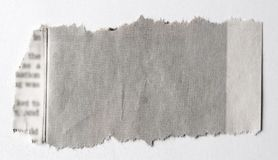 Torn paper. Piece of torn paper on plain background Royalty Free Stock Images