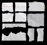 Torn paper , Piece of torn paper. Piece of torn paper, Ripped paper, Space for copy Royalty Free Stock Photos