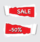 Torn paper promo Royalty Free Stock Photo