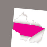 Torn paper reveal pink. Pink background with white paper and text space Royalty Free Stock Photos
