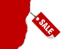 Torn paper and sale tag Stock Images