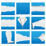 Torn Paper Set 1 Royalty Free Stock Images