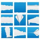Torn Paper Set 1 stock illustration