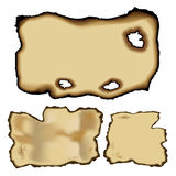 Torn Paper - Set 3 - Old and Burnt Royalty Free Stock Images