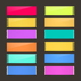 Torn Paper Set - Vector Colorful Papers Stock Photography