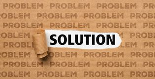 Torn Paper - Solution or Problem Stock Images