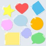 Torn paper stickers. Eps 10 Stock Photography