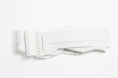 Torn Paper Strips Royalty Free Stock Photography