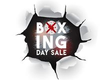 Torn paper style poster or flyer design for Boxing Day Sale concept. Torn paper style poster or flyer design for Boxing Day Sale concept vector illustration