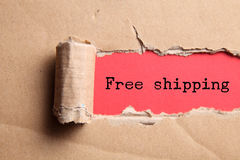 Torn paper. With text free shipping royalty free stock images