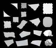 Torn paper texture. Pieces of torn paper texture background, copy space royalty free stock photography