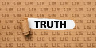 Torn Paper - Truth or Lie royalty free stock images