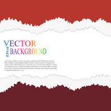 Torn paper vector, layered Stock Image
