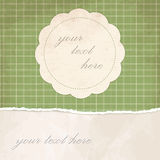 Torn paper vintage background with plaid Royalty Free Stock Image