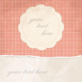 Torn paper vintage background with plaid Royalty Free Stock Photography