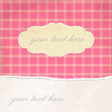 Torn paper vintage background with plaid pattern Royalty Free Stock Photo