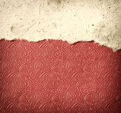Torn paper on vintage textured background Royalty Free Stock Photo