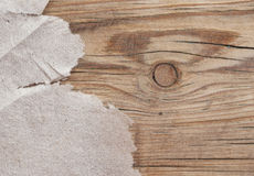 Torn paper on wood. Background stock images