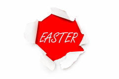 Torn paper with written word Easter Royalty Free Stock Image