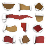 Torn papers Royalty Free Stock Photo