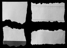 Torn papers Royalty Free Stock Photos