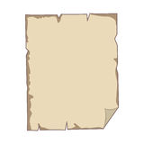 torn parchment with folded sheet edge Royalty Free Stock Images