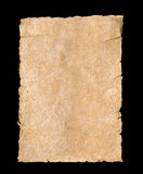 Torn parchment textured paper background Stock Photography