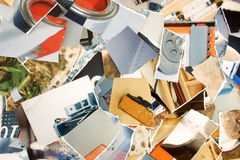 Torn photos background Royalty Free Stock Image