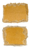 Torn piece of cardboard. With clipping path royalty free stock photo
