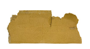Torn piece of cardboard. With clipping path Stock Images