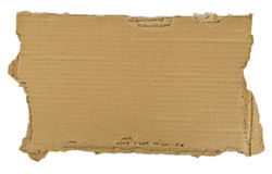 Torn Piece of Cardboard Royalty Free Stock Photos