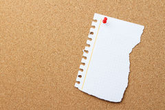 Torn piece of paper with copy space Royalty Free Stock Image