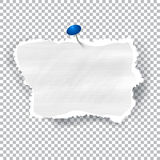 Torn piece of white paper with ripped edges and copyspace, vector illustration Stock Photography