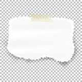 Torn piece of white paper with ripped edges and copyspace, vector illustration Royalty Free Stock Photo
