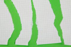 Torn pieces of checkered paper Royalty Free Stock Photos