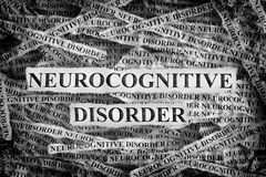 Torn pieces of paper with the words Neurocognitive disorder royalty free stock photos