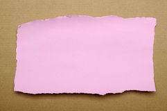 Torn Pink Paper Scraps Royalty Free Stock Photo