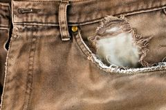 Torn pocket Royalty Free Stock Image