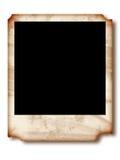 Torn polaroid. Ripped polaroid frame over white Royalty Free Stock Image