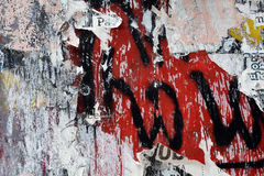 Torn poster and graffiti background Royalty Free Stock Photos