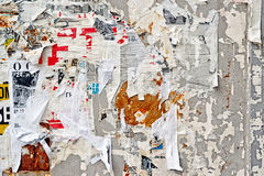 Free Torn Poster Wall Texture Royalty Free Stock Photography - 48470707