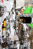 torn publicity wall stock photography
